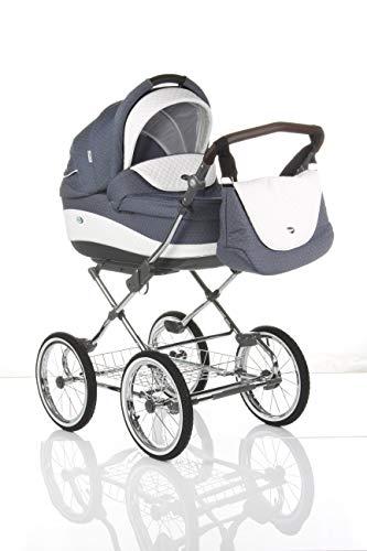 Sistema de viaje 3 en 1, Retro Clásico, silla de paseo, carrito con capazo y silla de coche y accesorios...