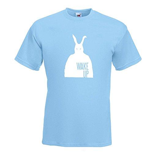 KIWISTAR - Frank - Bunny Man T-Shirt in 15 verschiedenen Farben - Herren Funshirt bedruckt Design Sprüche Spruch Motive Oberteil Baumwolle Print Größe S M L XL XXL Himmelblau
