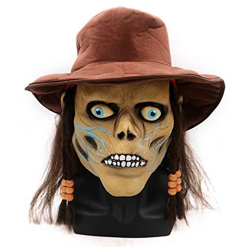 LBAFS Halloween Maske Erwachsene Grimasse Pirat Horror Zombie Maske Kopfbedeckung Requisiten