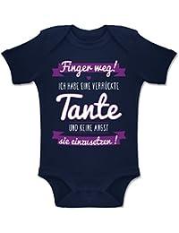 Shirtracer Sprüche Baby - Ich Habe eine verrückte Tante Lila - Baby Body Kurzarm Jungen Mädchen
