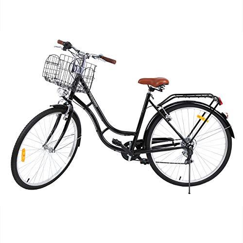MuGuang 28 Pouces Vélos de Ville Homme Femme 7...