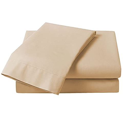 Just Contempo Non-Iron Easycare Fitted Sheet, Natural Beige, King Size