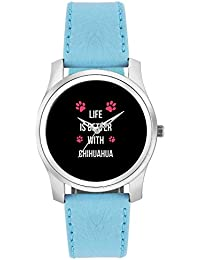 BigOwl Life Is Better With Chihuahua | Best Gift For Chihuahua Dog Lovers Fashion Watches For Girls - Awesome...