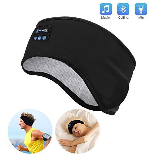 Schlaf Kopfhörer Ohrstöpsel - Navly Bluetooth V5.0 Sport Stirnband Kopfhörer mit Ultradünnen HD Stereo Lautsprecher,Perfekt für Sport, Seitenschläfer, Flugreisen, Meditation und Entspannung -