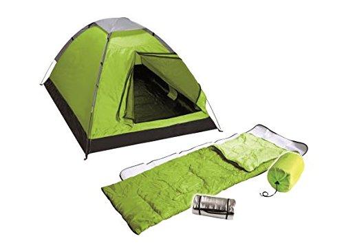 4UNIQ Festivalset, 2-Personen-Zelt, 2 Isomatten, 2 Schlafsäcke