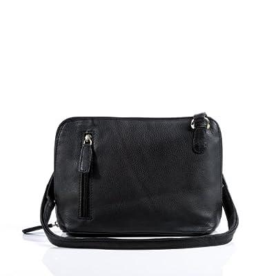 BACCINI® sac à bandoulière CYNTHIA femme - petit sac en cuir avec sangle - sacoche sac femme sac cuir véritable