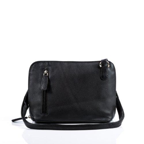 BACCINI® petit sac sangle sac sacoche cuir cuir en femme bandoulière CYNTHIA sac avec à sac véritable femme nXqSwgFUX