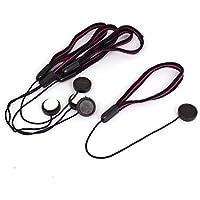 Tapa del objetivo de cuerda de seguridad - SODIAL(R) Tapa del objetivo de cuerda de seguridad para proteger lente de camara de color negro y rojo 5 piezas
