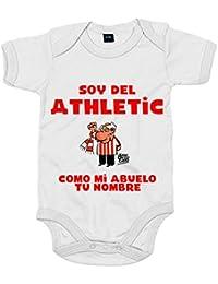 1814335a Body bebé soy del Athletic de Bilbao como mi abuelo personalizable con  nombre