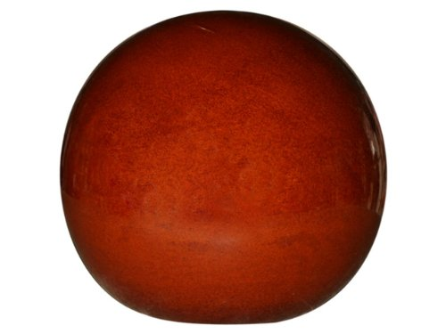 garden-ceramic-pottery-ball-glossy-brown-for-outdoor-use-diameter-30-cm-frost-resistant