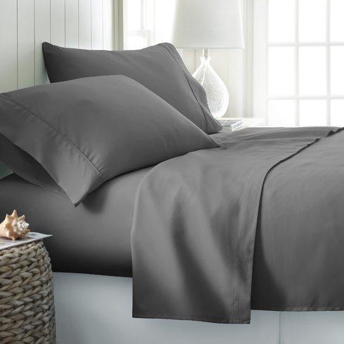 Threads Collection Premium 600Fadenzahl Ultra Soft 600tc flammig Bed Sheet Set Passt bis zu 38,1cm Tief Tasche 100% ägyptische Baumwolle Queen Size {Weiß Massiv} Queen Grau -
