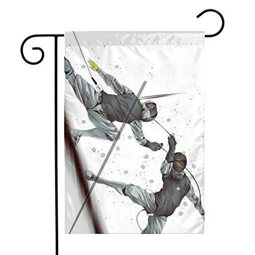 IconSymbol Home Decorative Outdoor Two-Sided Garden Flag Fencing Sports 30 x 45 cm House Yard Seasonal Flags -