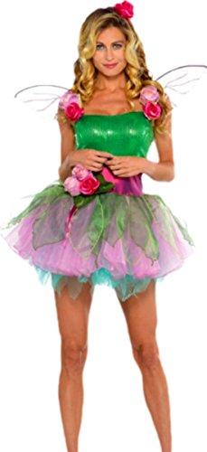 Elfenkostüm Nymphe Set, L, Grün (Niedliche Mädchen Elfen Kostüm)