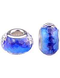 Bling étoiles en Murano Verre Cristal fascinante facettes perles espaceurs Pierre Solid Core Charm pour bracelets de type Pandora