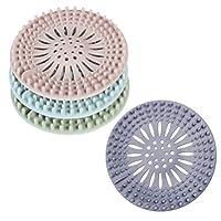 TOPBATHY Shower Drain Hair Catcher Covers Hair Stopper Bathtub Sink Strainer Filter Trap for Bathroom Kitchen 8 PCS