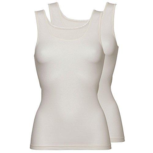 Damen Unterhemd Top 2-PACK BASIC COTTON (3370) Creme