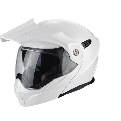ac8da11a03 Scorpion ADX 1 SOLID Motorcycle Helmet, White, Size M