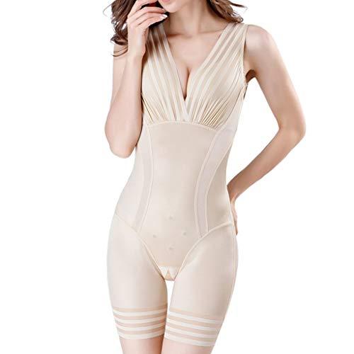 COZOCO Heiße verkaufende Damen Open File BH Hip-Lifting Sleepwear Body-Shaping-Kleidung mit Bauch und Taille Korsetts Body (3XL, C-Khaki) -