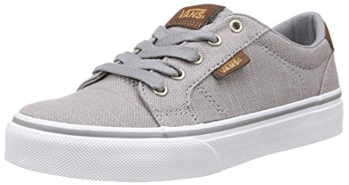 Vans Jungen Bishop Lauflernschuhe Sneakers Grau (Textile/Gray/Potting Soil)