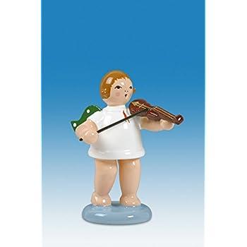Engelmusikant Engel mit Alphorn ohne Krone Höhe ca 6 cm NEU Holz Weihnachtsenge