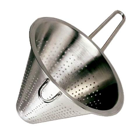 MGE - Edelstahl Küchensieb - Spitzsieb - Abtropfsieb - Ø 22 cm - Silber