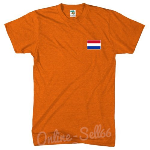 Diseño de bandera de Holanda Nation Holland T-camiseta de manga corta de diseño del mundial de balón de fútbol Euros Commonwealth del T-de manga corta de mujer