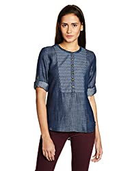 Levis Womens Body Blouse Shirt (23822-0004_Blue_L)