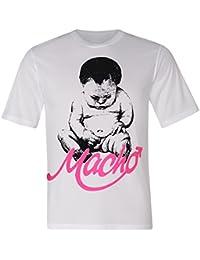 """BRUBAKER Fun Shirt mit lustigen Sprüchen - """"Macho"""" Weiß Baumwolle Gr. M - XXL"""