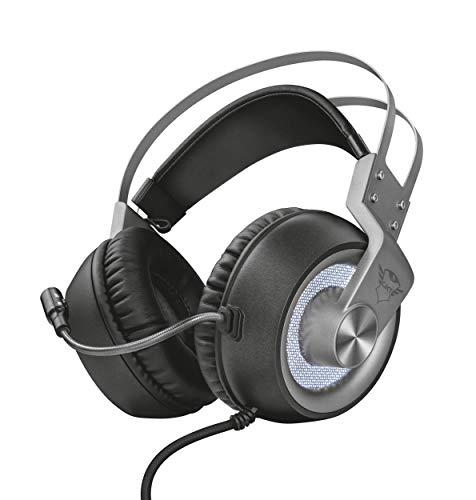 Trust GXT 4376 Ruptor Cuffie Gaming Over-Ear con Unità Altoparlanti e Suono Surround 7.1, Grigio