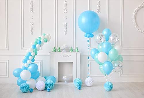 (Cassisy 3x2m Vinyl 1.Geburtstag Fotohintergrund Baby Junge Weinlese Dekor Blaue Ballons Basteln Sie Laterne Fotoleinwand Hintergrund für Fotoshoot Fotostudio Requisiten Party Baby Photo Booth)