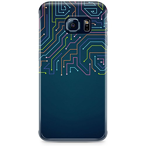 Queen Of Cases Coque pour Apple iPhone 5C-Néon électroniques-Premium en plastique bleu