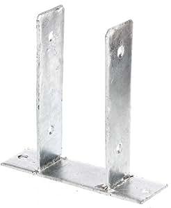 Staffa porta palo a U, da avvitare, zincato a caldo, larghezza:: 91mm di Gartenwelt Riegelsberger