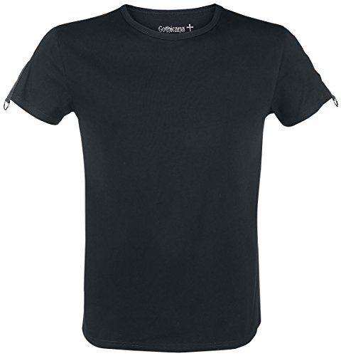 Gothicana by EMP Eyelet Shoulder Shirt T-Shirt nero XL