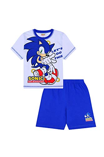 7c8f60fb6f895f Sonic The Hedgehog Let's Do This Short Gamer PJs - Pantalón Corto para niño  (algodón