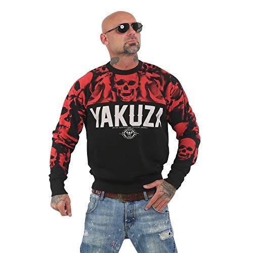 Yakuza Herren Sick N Fxck Pullover Sweater, Schwarz, L