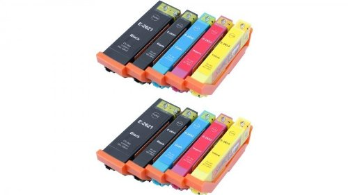 10 Cartouches d'encre compatibles avec Puce remplace Epson 26XL, T2621, T2631, T2632, T2633, T2634, T2636