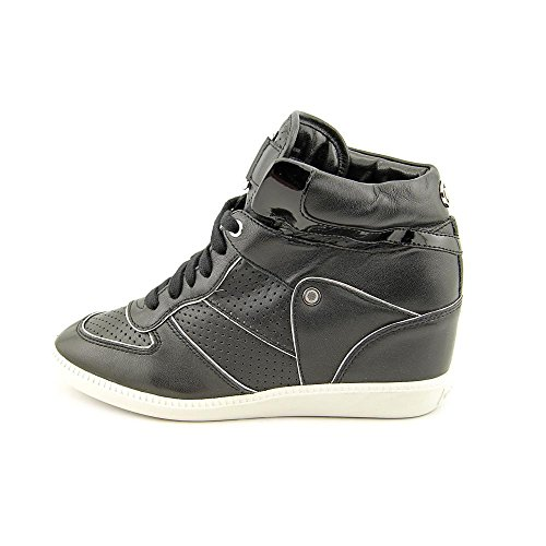 Michael Michael Kors Nikko High Top Cuir Baskets Black