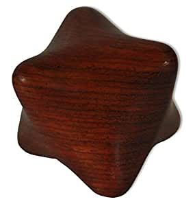 Instrument de massage en bois, cube pour les mains, importé de Thaïlande (14306)
