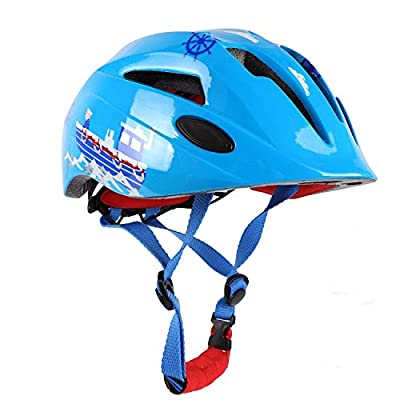 Shinmax Kids Cycle Helmet with LED light, CE Certified, Adjustable Children's Helmet for 5-13 Years Old Boys/Girls Cycling from Shinmax