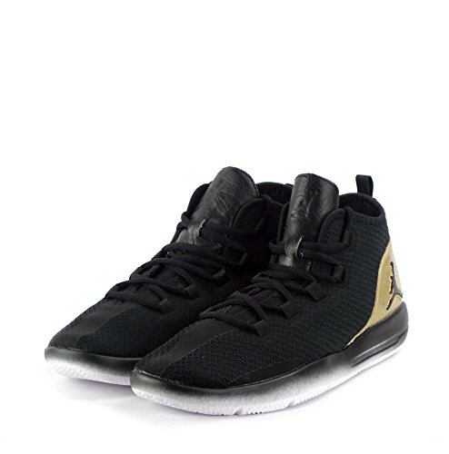 Nike Jordan Reveal Q54 Bg, espadrilles de basket-ball garçon Noir (Noir / Blanc-Metallic Gold)