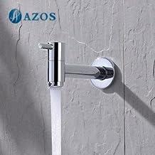 AZOS Utilidad fregona Bibcock sola fría Soporte de pared cromo exterior grifo de jardín cuarto de baño lavabo grifo pjtb014