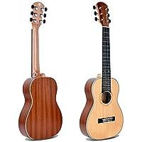 Hjyi Guitarra clásica Spruce Sapele Nylon String Matte Acacia 6 Cuerdas pequeña Guitarra ...