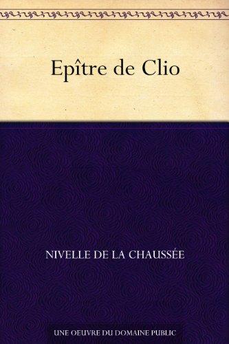 Couverture du livre Epître de Clio