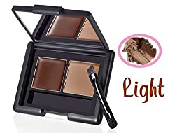 E.L.F. Studio Eyebrow Kit Brow Powder & Wax Duo w Brush - Light by e.l.f. Cosmetics