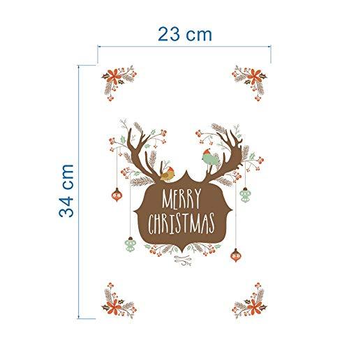 ndaufkleber Weihnachtsbaum Schneemann Wandaufkleber Dekoration DIY PVC Fenster Rentier Weihnachten Wandbild Kunst Aufkleber ()