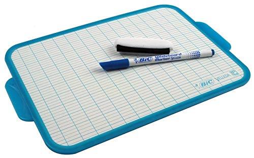 BIC 950615Velleda-Lote de 2Surface borrado en seco borde 19x 26cm azul