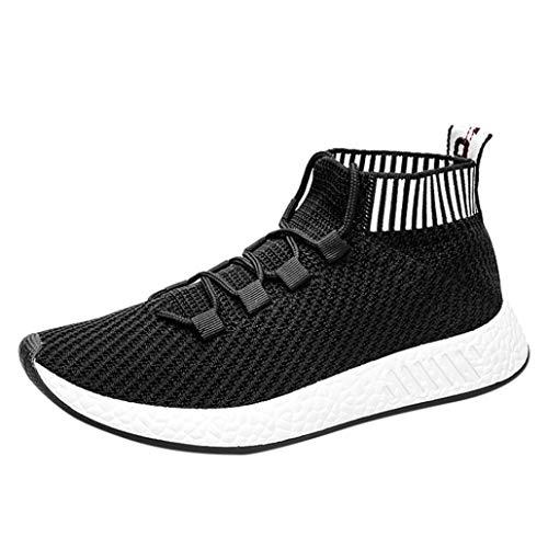 Baskets FantaisieZ Chaussures de Sport à Semelles Souples Cross Chaussures de Gym Chaussettes Chaussures Sneakers de Course pour Hommes Garçons de Trois Couleurs