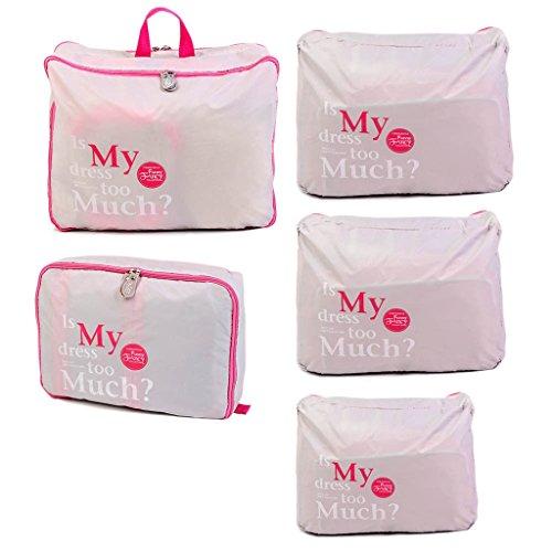 5 Pezzi Vestiti Calzini Cubo Imballaggio Bagagli Di Viaggio Di