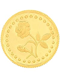 Malabar Gold & Diamonds 24k (999) Rose 1 gm Yellow Gold Coin