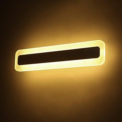 WYDM Lange Streifen Spiegel Vorne Ligh, LED Wc Badezimmer Moderne Mode Einfache Badezimmer Lampe Nachtwandleuchte (Farbe : Weißes Licht-43W/120cm) - Für Badezimmer Lichtbalken